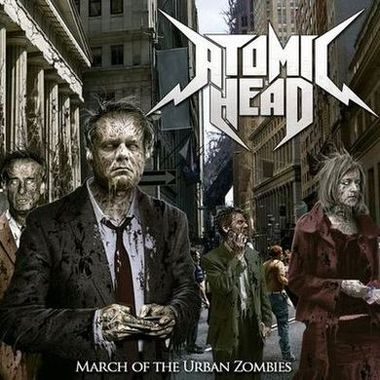 Atomic Head - March of the Urban Zombies Cover